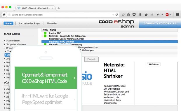 HTML Komprimierung für Oxid eShop