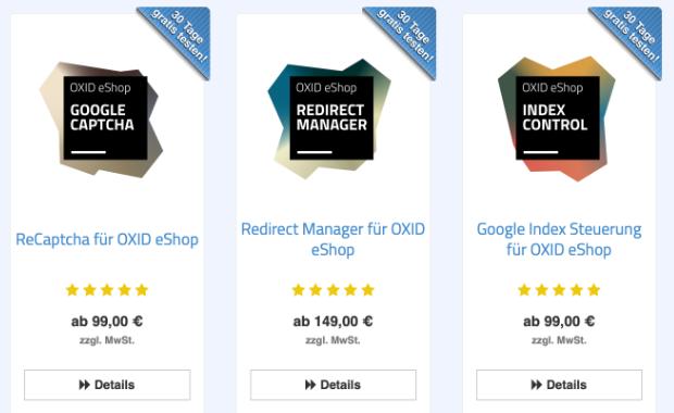 Sterne Bewertungen in OXID eShop Produktlisten