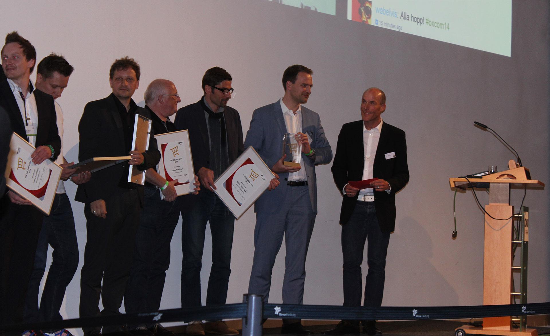 Verleihung des Oxid Best Solution Awards 2014