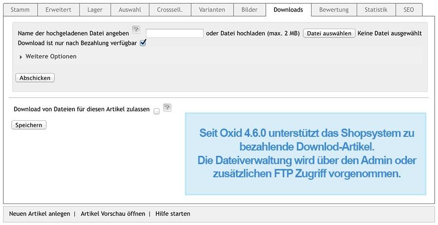 Oxid Standard Download Produktmanagement